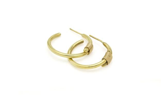 Bound Small Hoop Earrings