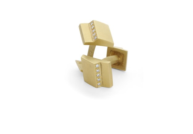 Step Square Diamond Cufflinks