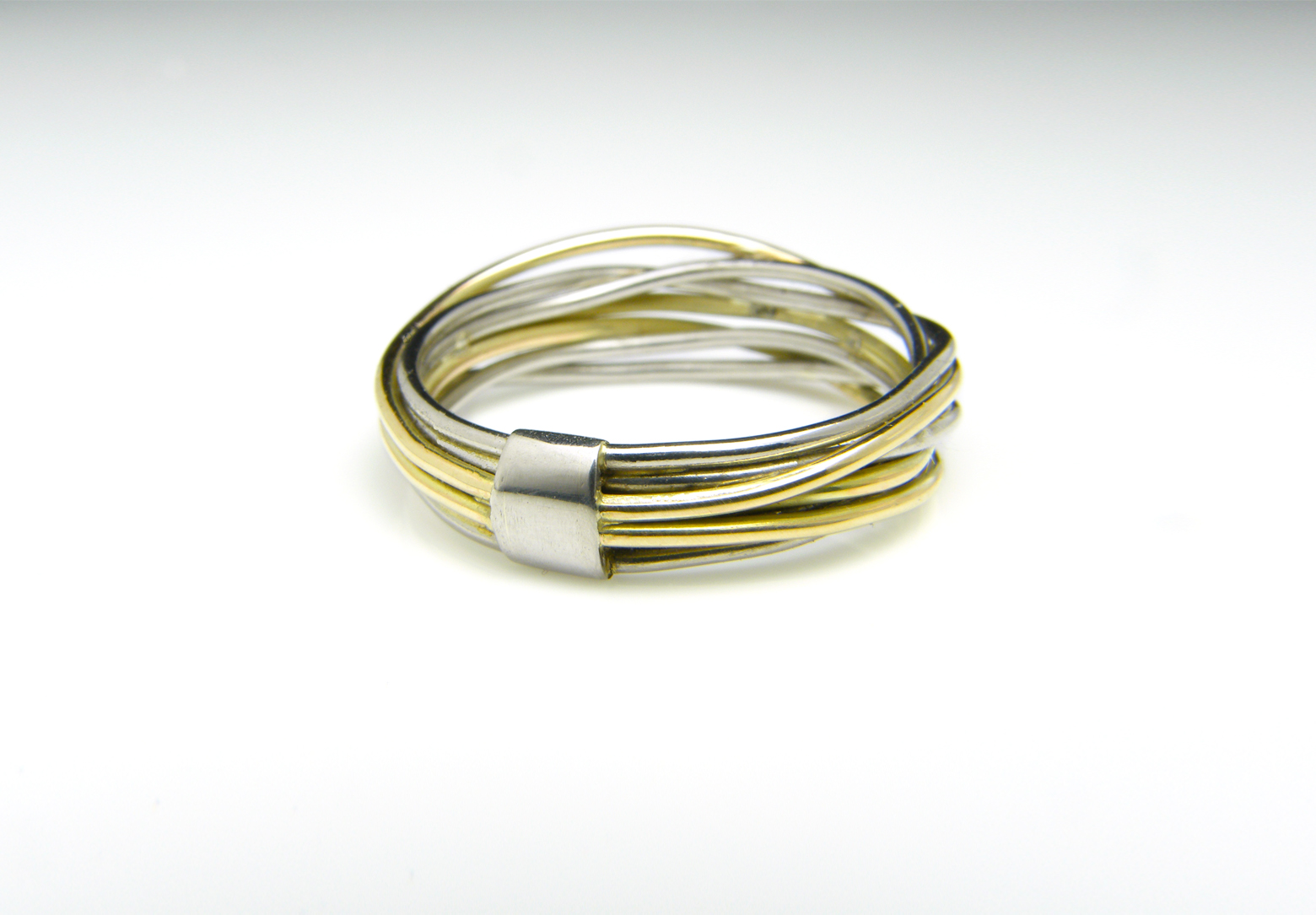 Flow Platinum & Gold Ring