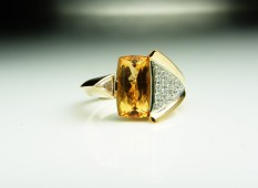 Imperial Topaz Red Gold Ring