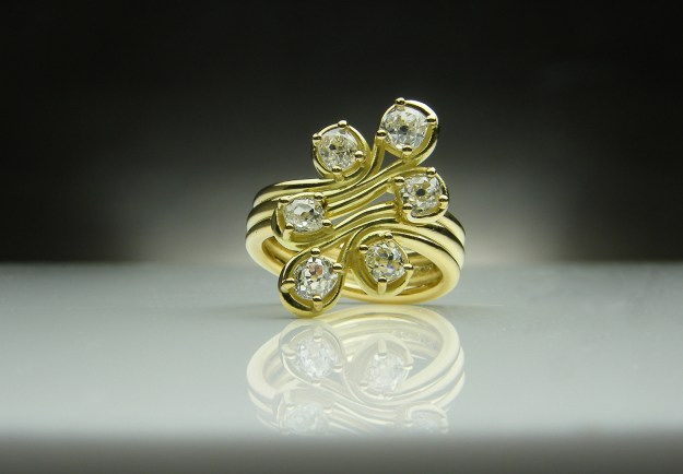 Old Cut Diamond & 18ct Yellow Gold Ring