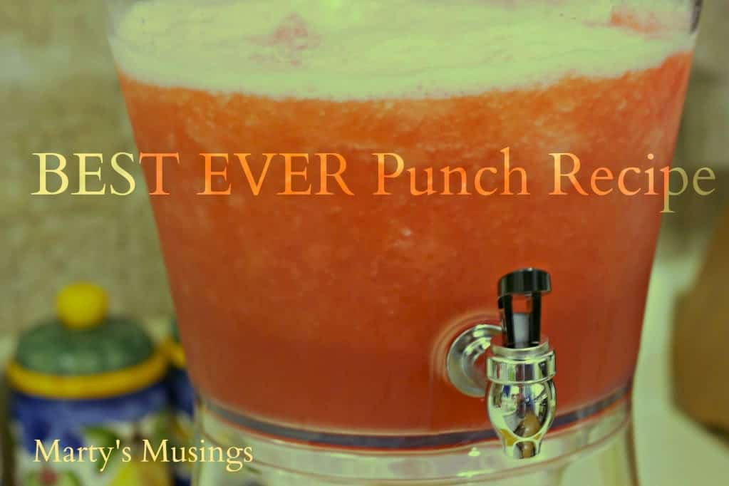 Quick and easy fruit punch recipe