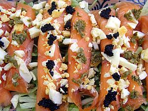 Rollitos de salmón peq