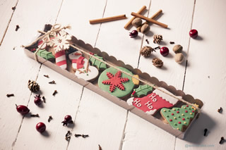 Galleta de adornos de Navidad de Wannacake