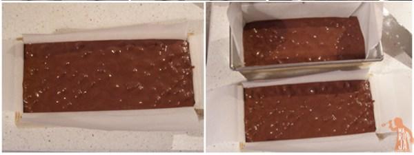 Turrón de chocolate y kikos en los moldes