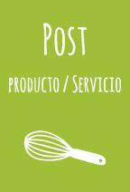 post de productos o servicios