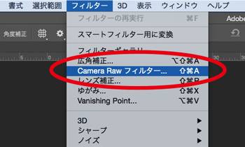 Photoshp Camera Rawフィルター