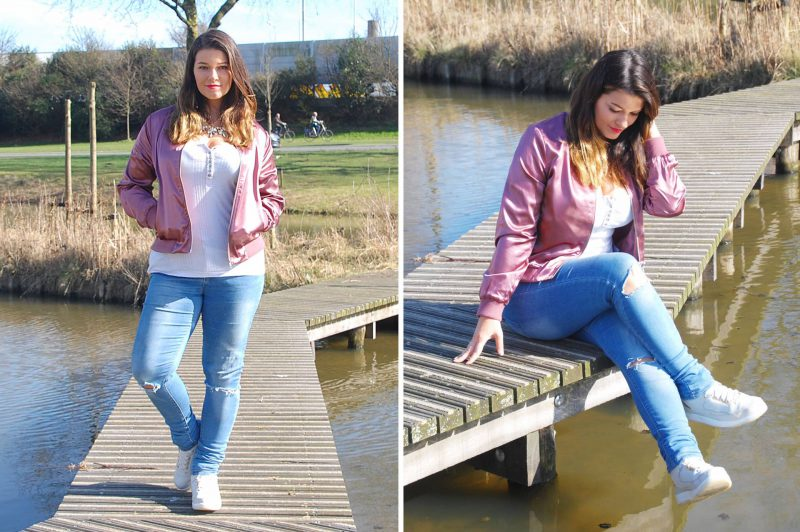 OOTD | Pretty in Pink met deze Starly Bomber Jacket
