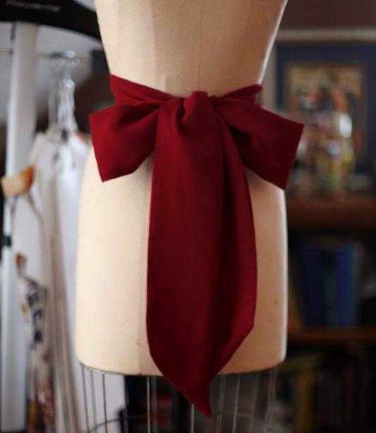 burgandy flower girl dress sash wedding November Notre Dame Russian