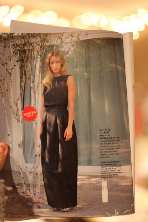 little black velvet shift burdastyle 130 dress marusya