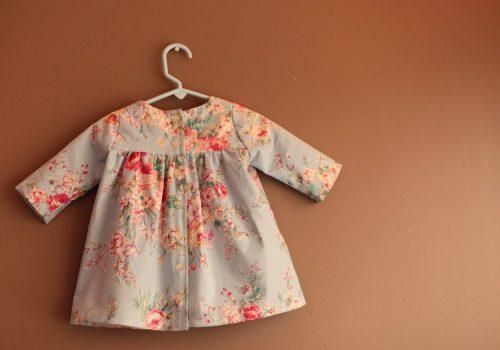 burdastyle 147 09 2013 Dress Red Blue Floral Cotton Dress Girls Summer Spring button down