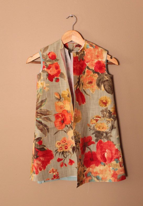 Floral, Easter, Spring, Girls, Children's, Jacket, Coat, Burdastyle, 02/2012, Bright, Colorful, First Communion, Poppies, Sewing Blog, Anagrassia