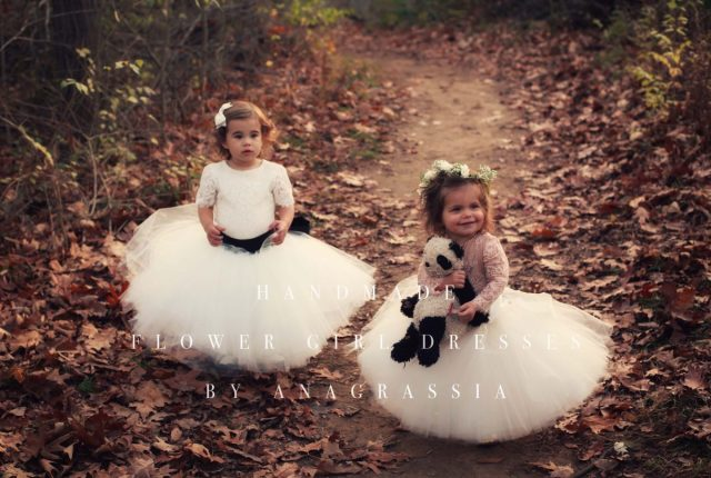 blush Alencon ivory lace leotard bridal wedding flower girl dress