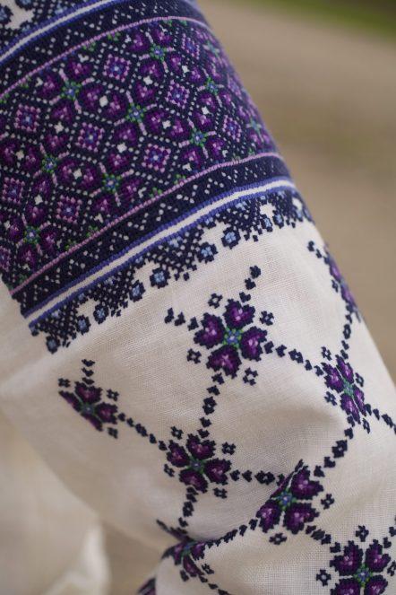 ukrainian blue embroidered blouse anagrassia