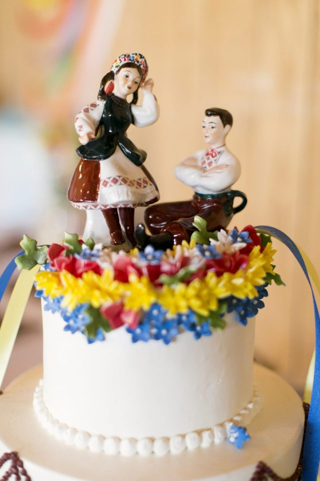 ukrainian wedding cake topper