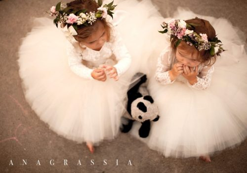 Flower Girl Dress Tulle Lace Best Anagrassia Leotard Alencon handmade fashion couture champagne floral crown