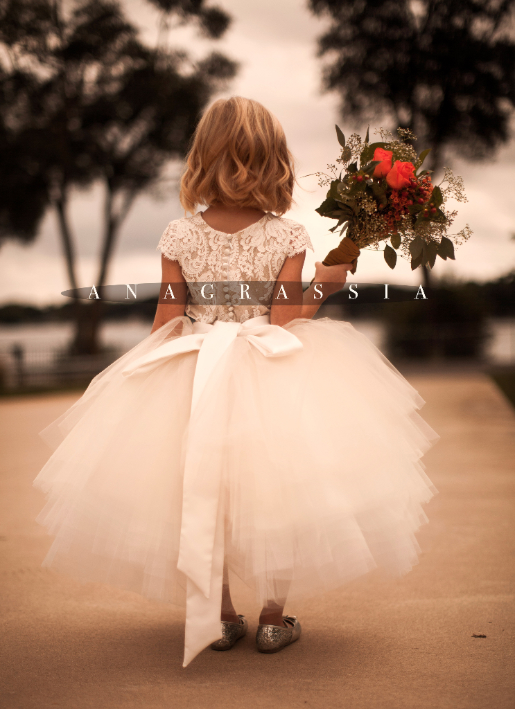 flower girl dress lace leotard alencon marusya marusya