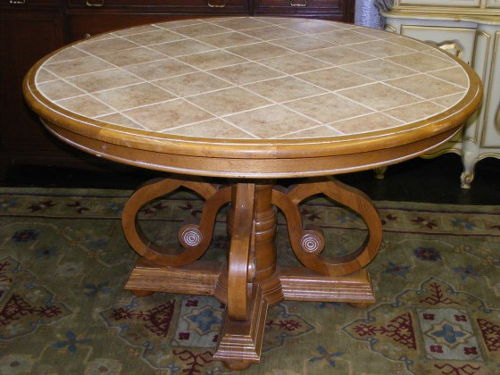 round tile top dining table marva s place