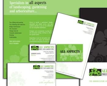 Corporate folder leaflets and stationary