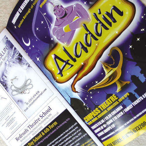 Print design for theatre programmes