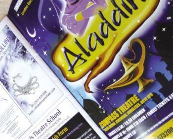 Print Design for theatre programme