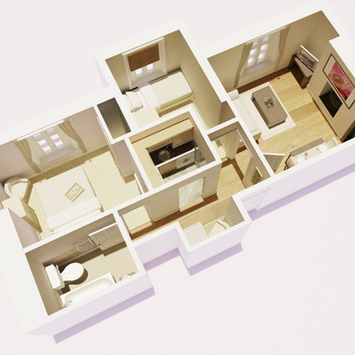 3D floorplan for property development