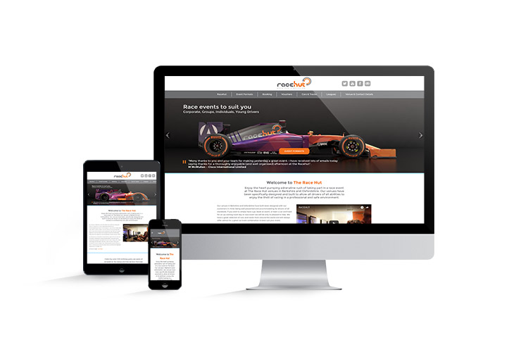 Website design and build for The Race Hut