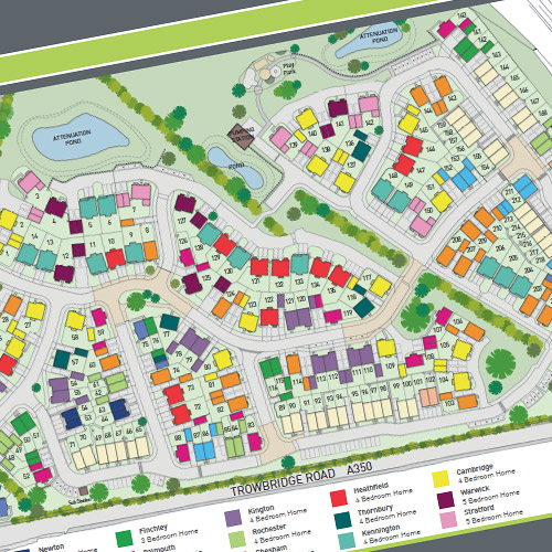 Property developer's site plan