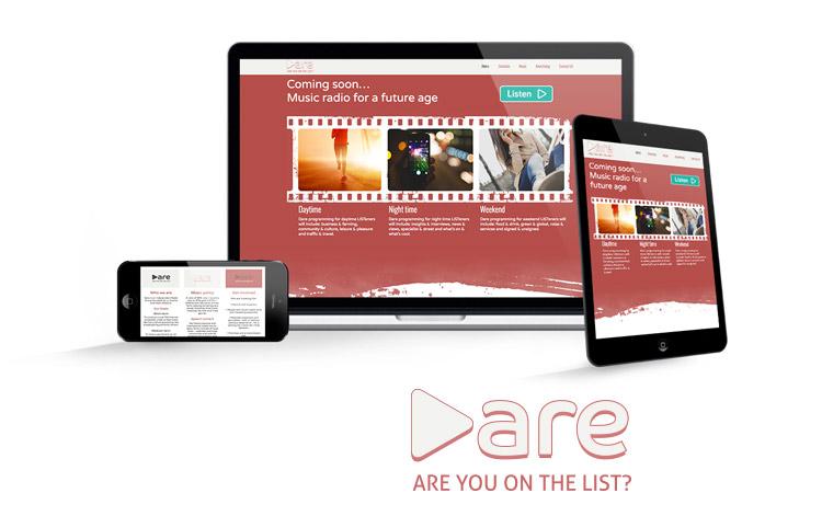 """Dare"" website design and build"