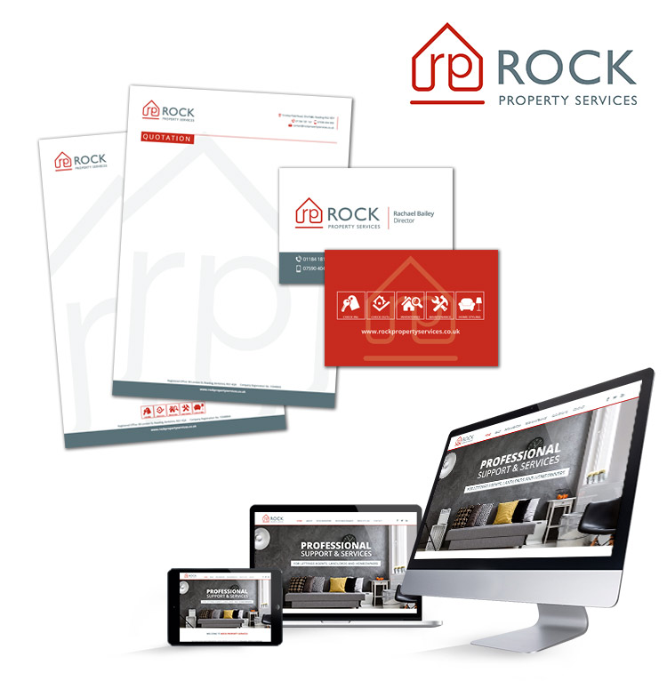 Rock Property - branding, web design, stationary