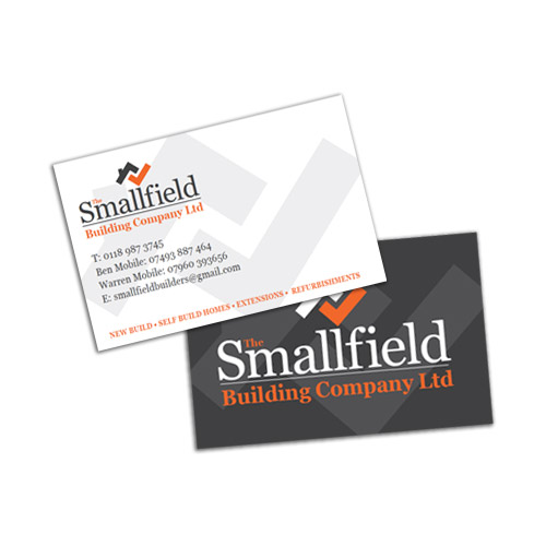 Smallfield Building Company – Branding, Signage, Stationary