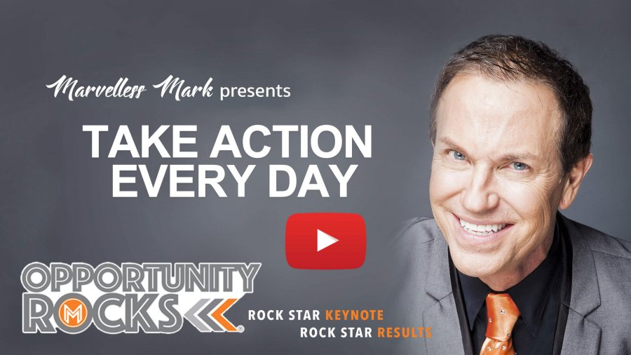 Being motivated to take action every day.