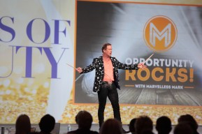 Mark hosting an event in Las Vegas, NV with his Opportunity Rocks program.