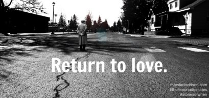 return to love m davidson 31 days