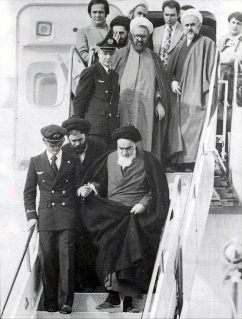 Khomeini Ankunft am 1. Februar 1979