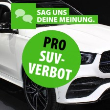 Debatte: S-Bahn fahren statt SUV-Wahn!
