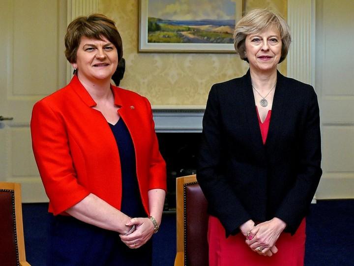 Arlene Foster and Theresa May Image Flickr Tiocfaidh ár lá 1916