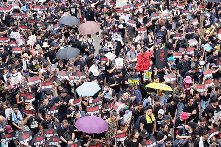 Voa hong kong protest 16 juni2019 Image VOA