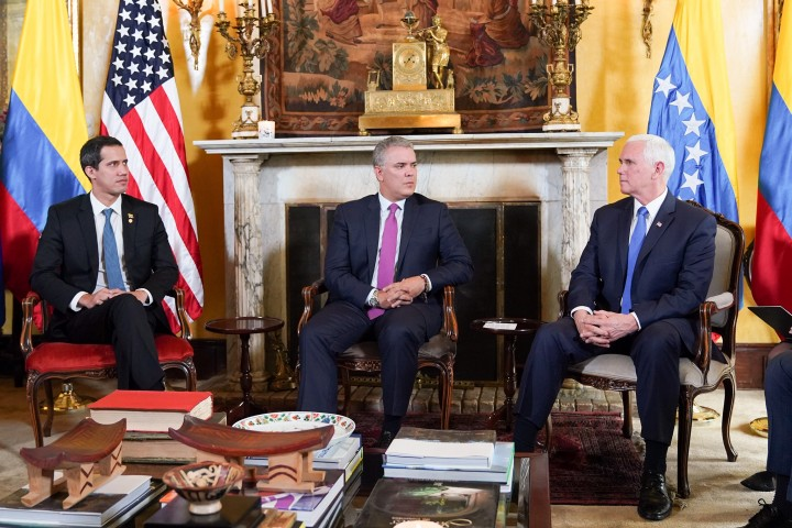 Guaido meeting Colombia Image Flickr The White House