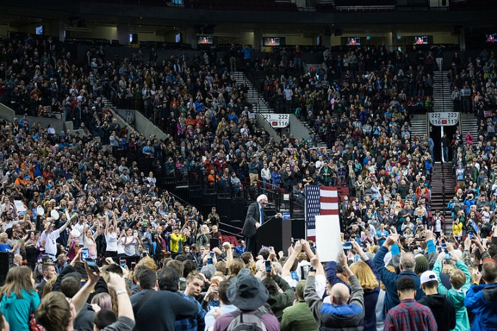 Bernie Sanders rally in Portland Oregon March 25 2016 Imagen Benjamin Kerensa en Wikimedia
