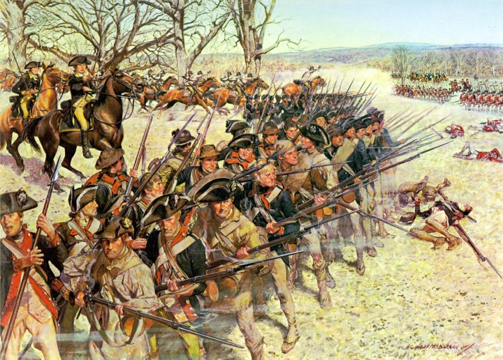 Battle of Guiliford Courthouse Imagen Dominio Público