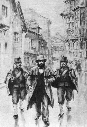 01 Karl Marx arreted i Brussel Bilde public domain