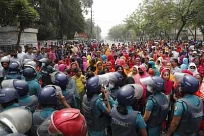 Bangladesh garmant protest 2
