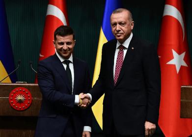 Zeleinskiey Erdogan Image Mustafa Kaya