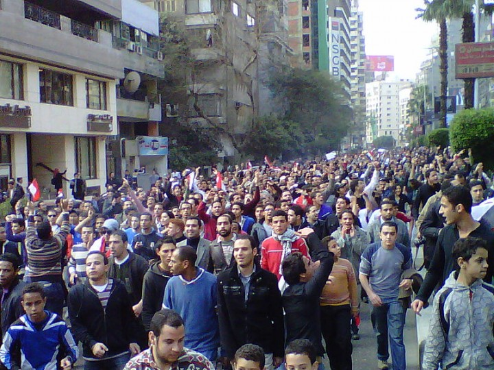 Day of Anger marchers in street Image Muhammad Ghafari
