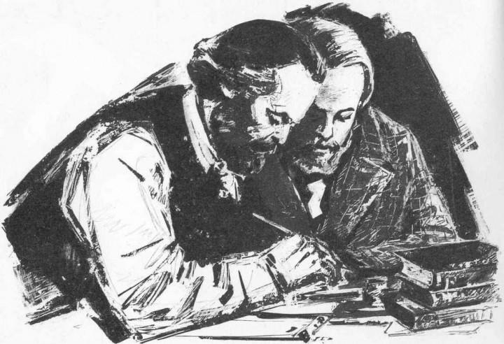 Marx og Engels Bilde public domain