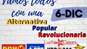 Nace la Alternativa Popular Revolucionaria: ¡reconstruyamos la ...