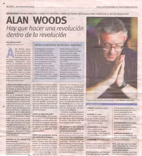 """Alan Woods: """"Hay que hacer una revolución dentro de la revolución"""""""