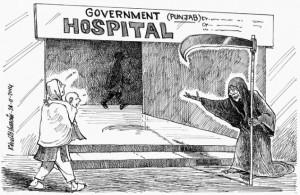 سرکاری ہسپتالوں میں موت کے ڈیرے