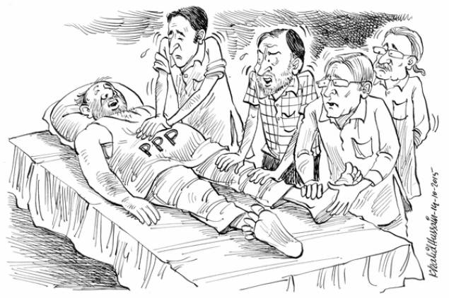 peoples party dying cartoon